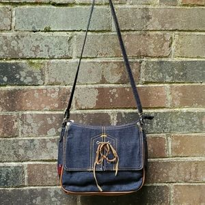 Xhiliration Denim Crossbody or Shoulder bag